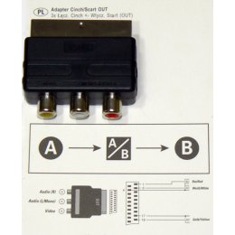 ADAPTER CINCH/SCART OUT